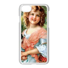 Girl With Dog Apple Iphone 7 Seamless Case (white)