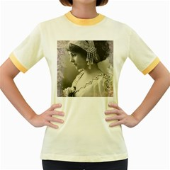 Vintage 1501540 1920 Women s Fitted Ringer T Shirts