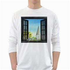 Town 1660455 1920 White Long Sleeve T Shirts