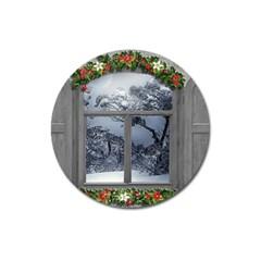 Winter 1660924 1920 Magnet 3  (round)