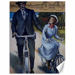 Couple On Bicycle Canvas 18  X 24