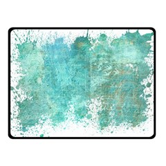 Splash Teal Fleece Blanket (small)