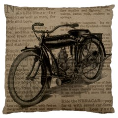 Bicycle Letter Large Cushion Case (two Sides)