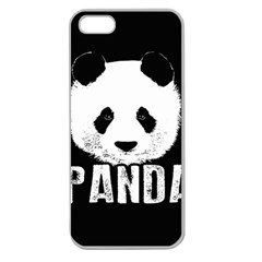Panda  Apple Seamless Iphone 5 Case (clear)