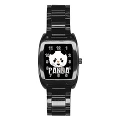 Panda  Stainless Steel Barrel Watch