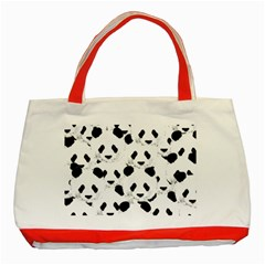 Panda Pattern Classic Tote Bag (red)