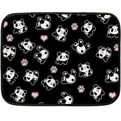 Panda Pattern Fleece Blanket (mini)