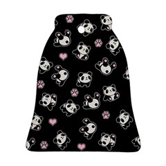 Panda Pattern Bell Ornament (two Sides)
