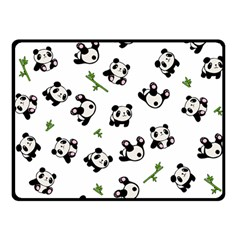 Panda Pattern Double Sided Fleece Blanket (small)