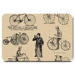 Victorian Bicycles Large Doormat