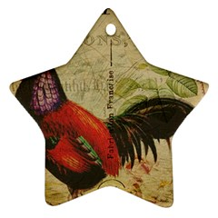 Rooster Ornament (star)
