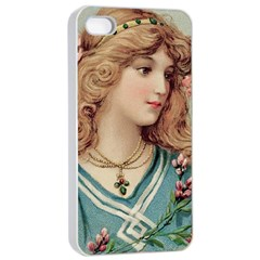 Lady Apple Iphone 4/4s Seamless Case (white)