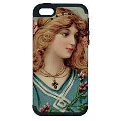 Lady Apple Iphone 5 Hardshell Case (pc+silicone)