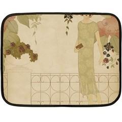 Twenties Girl Fleece Blanket (mini)