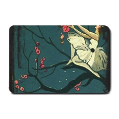 Girl And Flowers Small Doormat