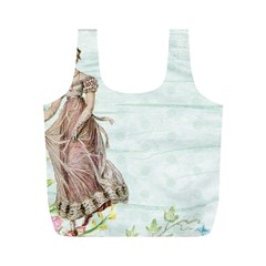 Vintage Woman Full Print Recycle Bags (m)