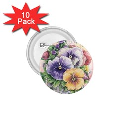 Lowers Pansy 1 75  Buttons (10 Pack)