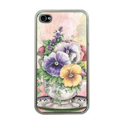 Lowers Pansy Apple Iphone 4 Case (clear)
