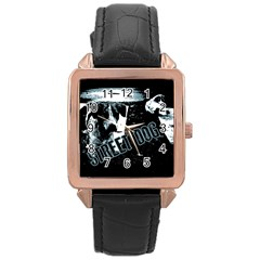 Street Dogs Rose Gold Leather Watch