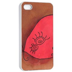Red Worm Apple Iphone 4/4s Seamless Case (white)