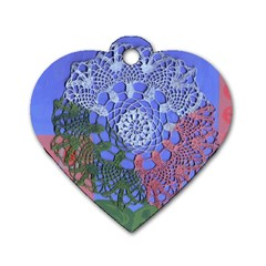 Pink Houses Dog Tag Heart (one Side)