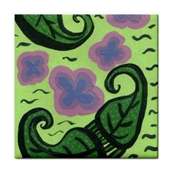 Leaves Tile Coasters