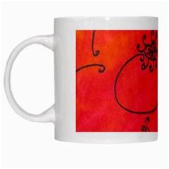 Flower White Mugs