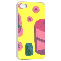 Candy Pink Hat Apple Iphone 4/4s Seamless Case (white)