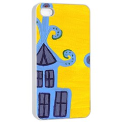 Blue House Apple Iphone 4/4s Seamless Case (white)