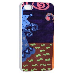 Jack In The Box Flower Apple Iphone 4/4s Seamless Case (white)