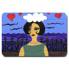 Girl By The Sea Large Doormat