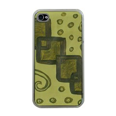 Four Squares Apple Iphone 4 Case (clear)