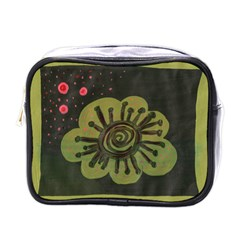 Flower Spitting Out Pink Pollen Mini Toiletries Bags