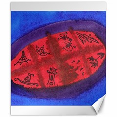Red Egg Canvas 20  X 24