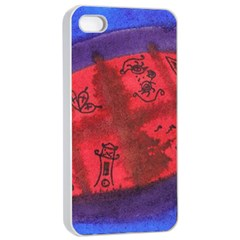 Red Egg Apple Iphone 4/4s Seamless Case (white)