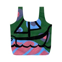 Boat Full Print Recycle Bags (m)