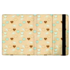 Beige Heart Cherries Apple Ipad 3/4 Flip Case