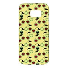 Yellow Heart Cherries Samsung Galaxy S7 Edge Hardshell Case