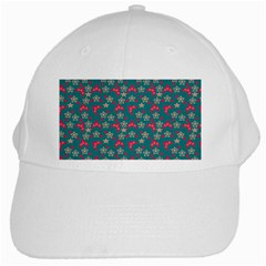 Teal Hats White Cap