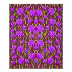 Roses Dancing On A Tulip Field Of Festive Colors Shower Curtain 60  X 72  (medium)