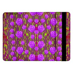 Roses Dancing On A Tulip Field Of Festive Colors Samsung Galaxy Tab Pro 12 2  Flip Case