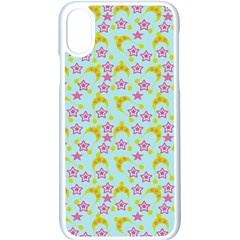 Blue Star Yellow Hats Apple Iphone X Seamless Case (white)