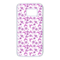 Violet Winter Hats Samsung Galaxy S7 White Seamless Case
