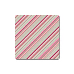 Candy Diagonal Lines Square Magnet