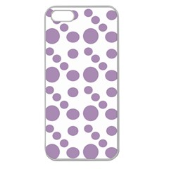 Violet Dots Apple Seamless Iphone 5 Case (clear)