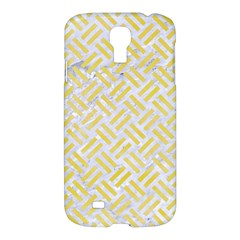 Woven2 White Marble & Yellow Watercolor (r) Samsung Galaxy S4 I9500/i9505 Hardshell Case