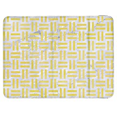 Woven1 White Marble & Yellow Watercolor (r) Samsung Galaxy Tab 7  P1000 Flip Case