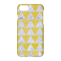 Triangle2 White Marble & Yellow Watercolor Apple Iphone 8 Hardshell Case
