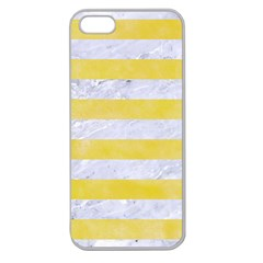 Stripes2white Marble & Yellow Watercolor Apple Seamless Iphone 5 Case (clear)