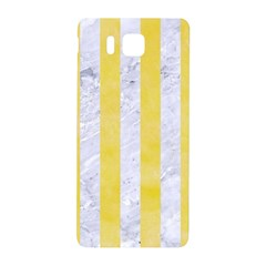 Stripes1 White Marble & Yellow Watercolor Samsung Galaxy Alpha Hardshell Back Case
